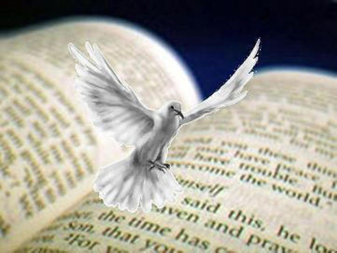 Holy spirit with bible