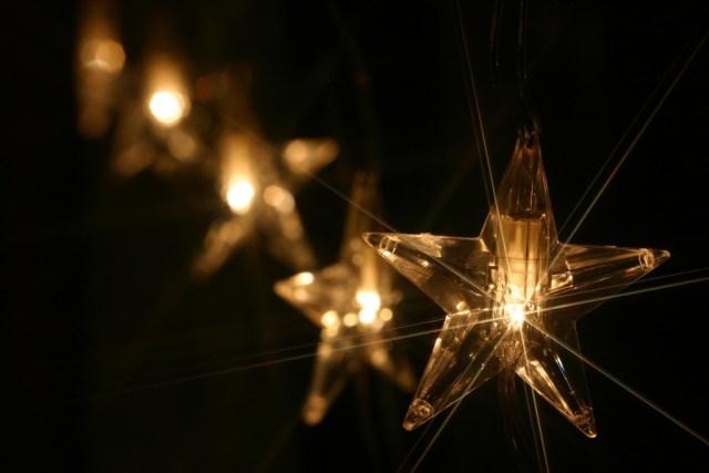 Beautiful lightning Christmas star