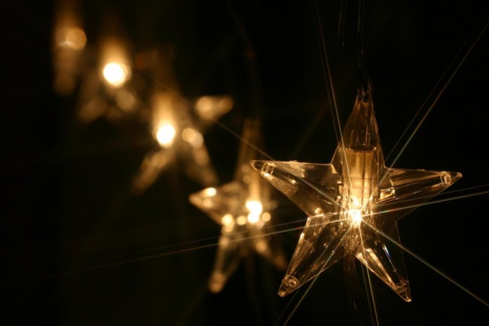 Beautiful lightning Christmas star