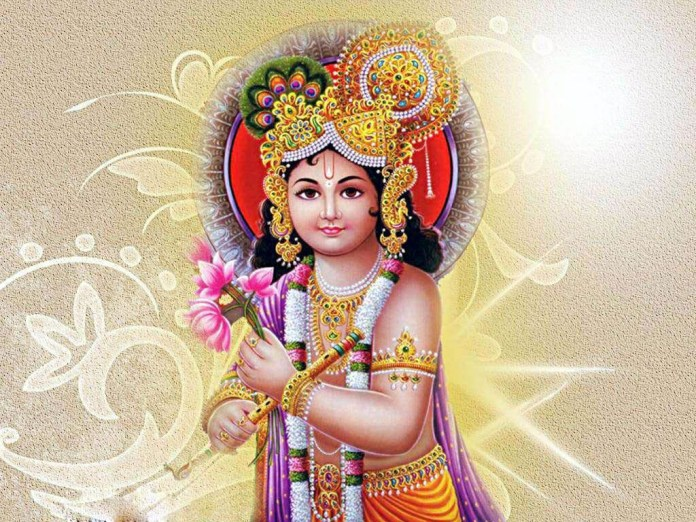 Lord Krishna awesome wallpaper in 3d