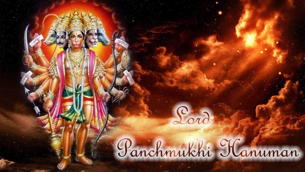 Panchmukhi Hanumaan image in 1920x1080 resolution