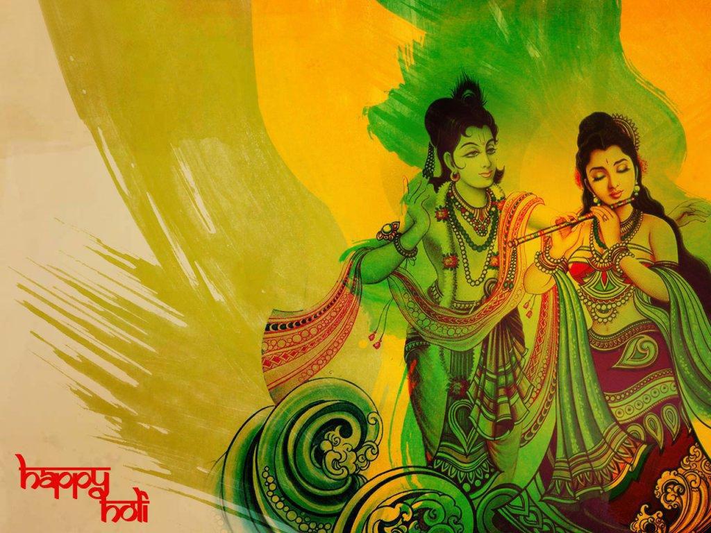 Radha Krishna holi pretty greating
