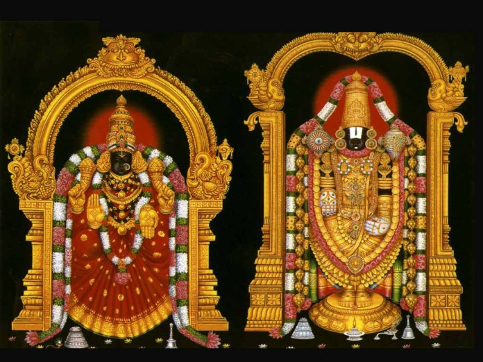 Lovely statue of god Venkateswara image