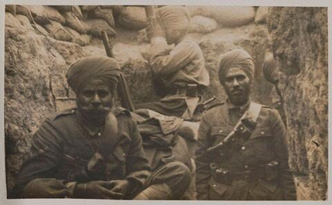 7. Sikh soldiers in the trenches at Gallipoli in World War 1.