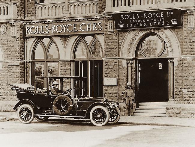 6. Rolls-Royce's India Depot on Mayo Road, Bombay, 1911.