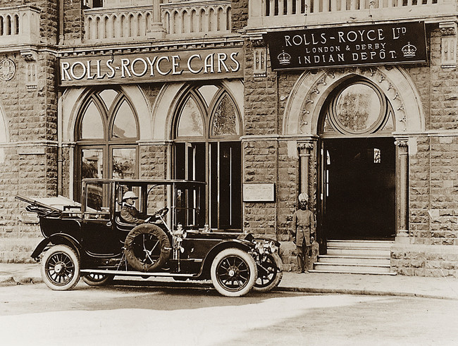 6. Rolls-Royce's India Depot on Mayo Road, Bombay, 1911.