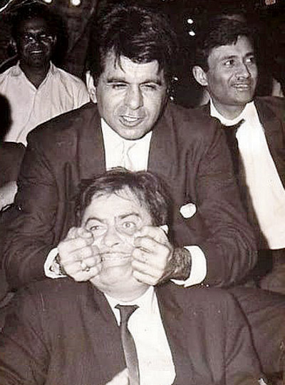 48. Dev Anand, Dilip Kumar and Raj Kapoor in a single photo - 1950s.