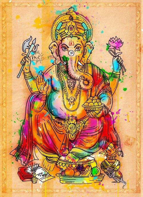 Colorful Ganesha