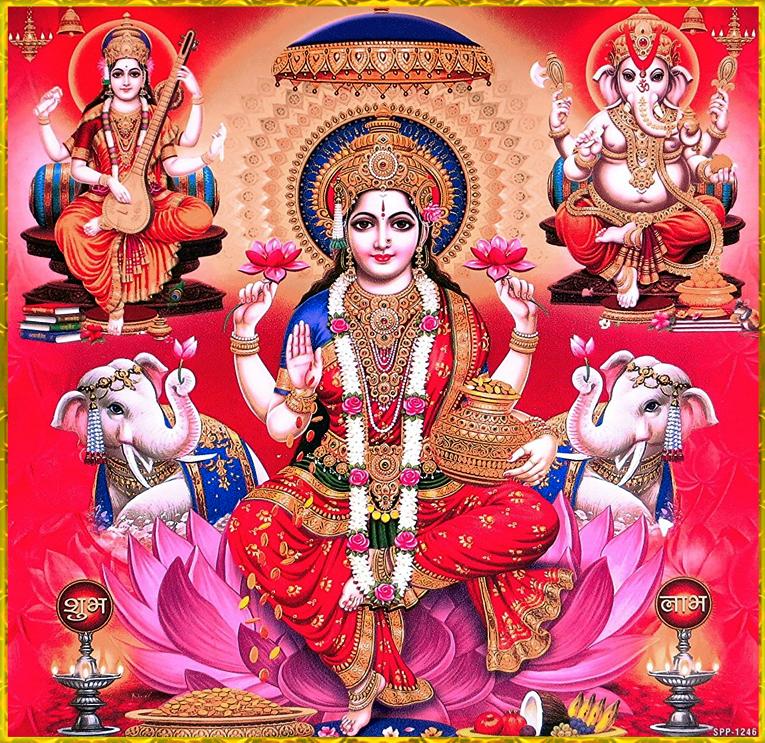 Ganesha Lakshmi, Saraswati