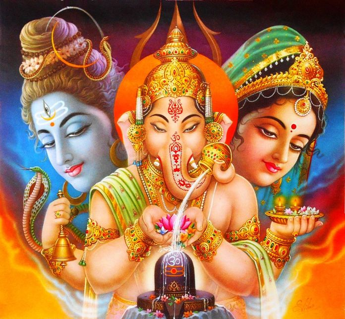 God Ganesha Linga Pooja