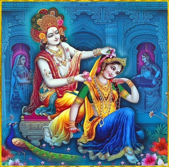 Krishna Preparing Radha