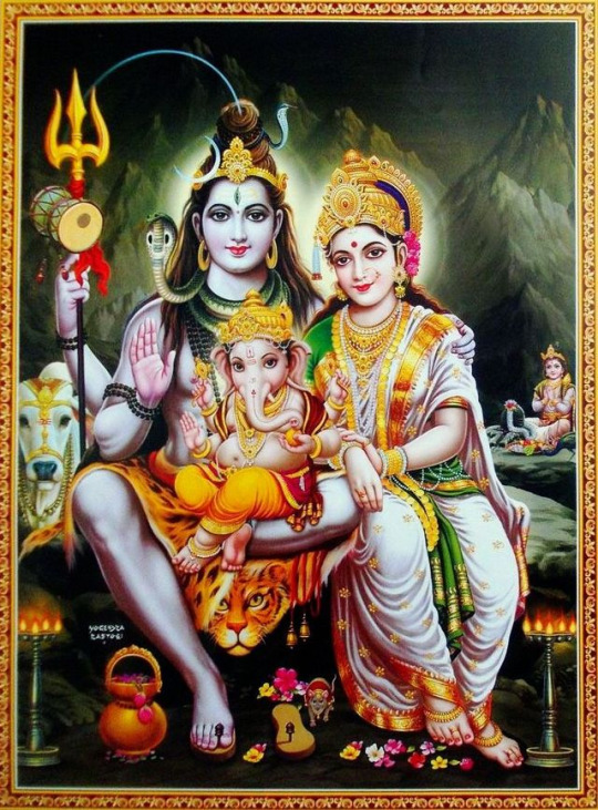 Lord Shiva with Parvati Ganesha Kartik