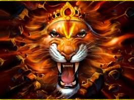Narasimha as Lion