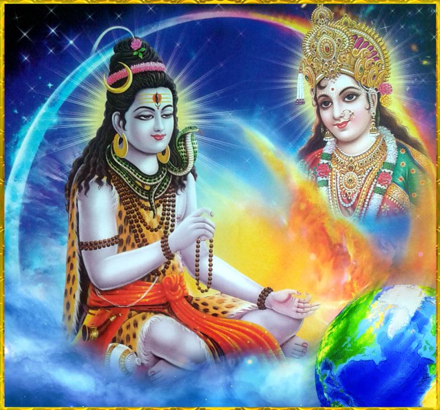 Shiva Meditating Shakti