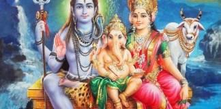 Shiva Parvati Ganesha in Calendar