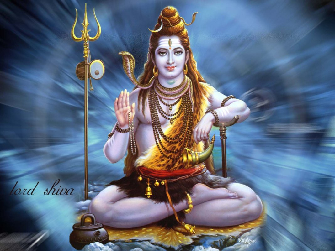 Lord Shiva Giving Blessing Wallpaper