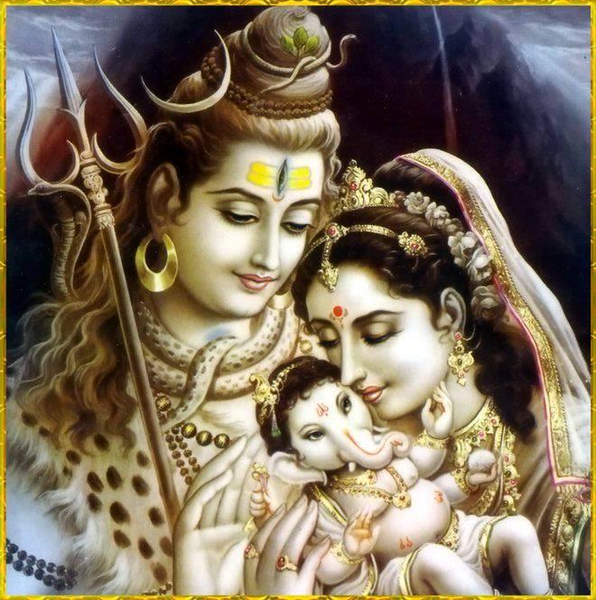 Gaurd Nadan Ganesh shiv-parvati