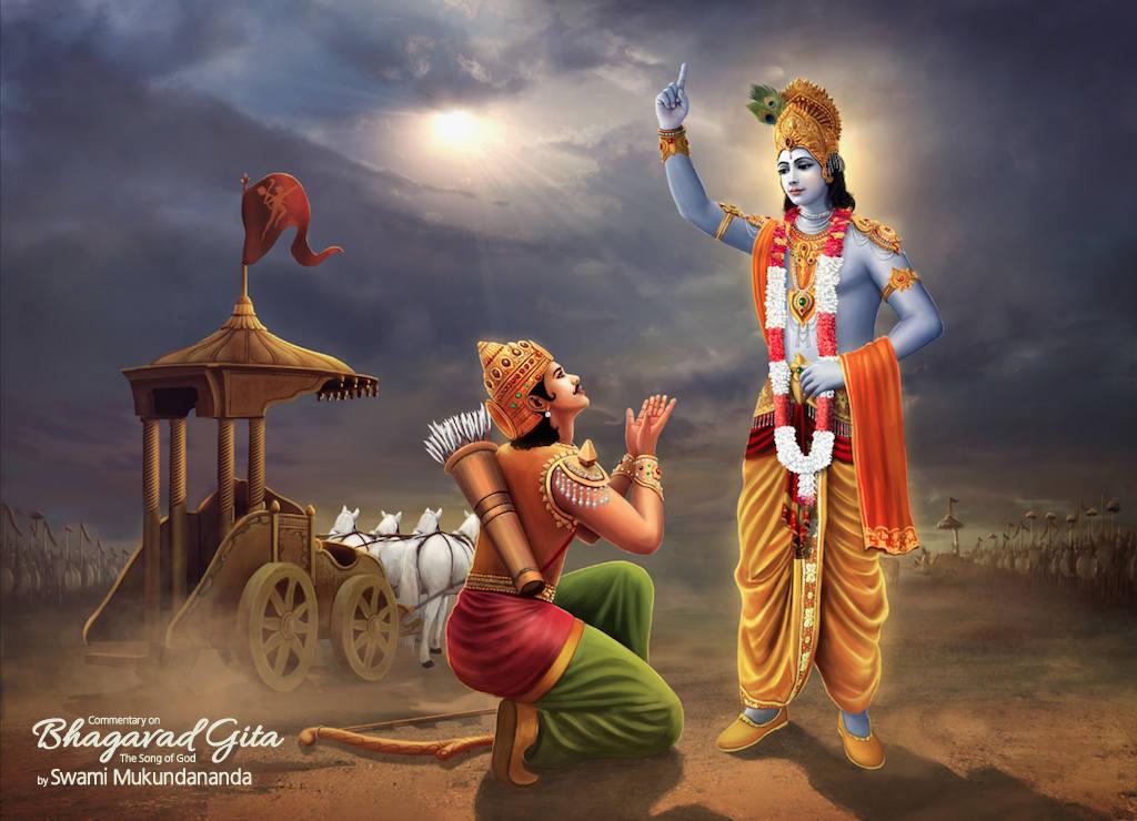Krishna Arjun Gita Mahabharat