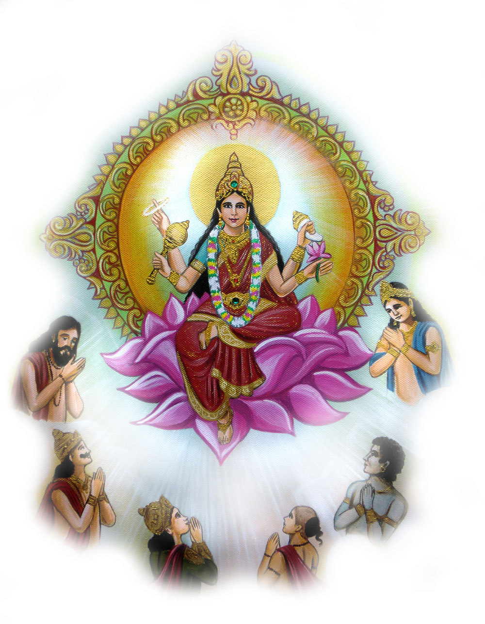 Siddhidatri Transparent - Goddess Nav Durga Transparent Images