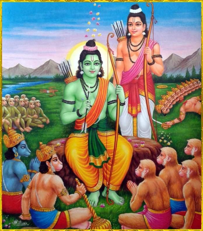 Ram laxman Hanuman with Vanar Sena hd - Ram laxman & Hanuman with Vanar Sena