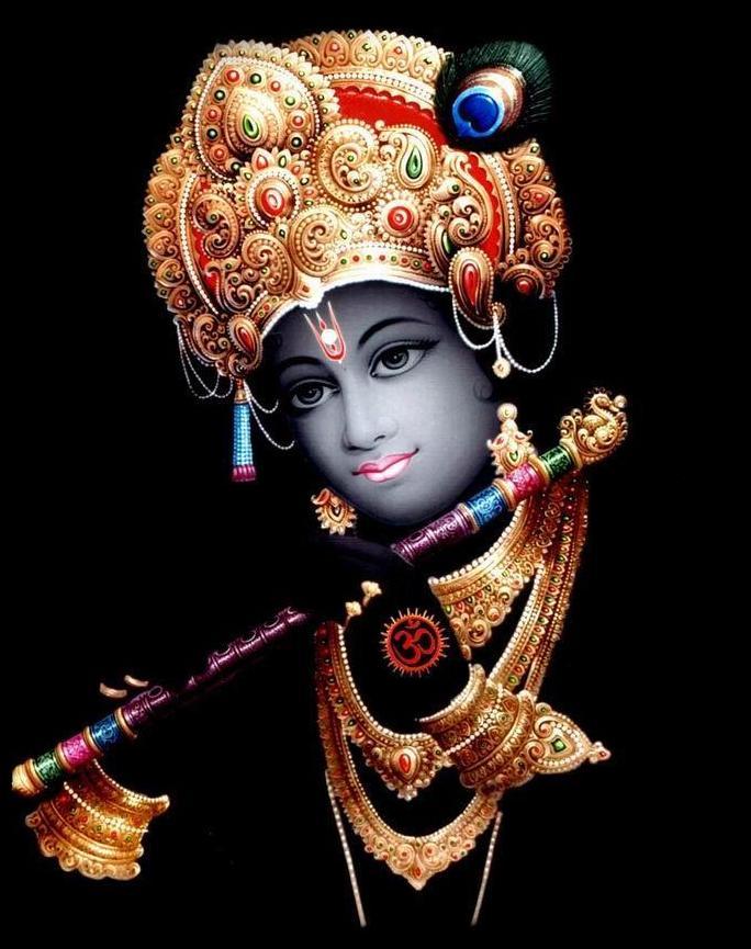 Krishna Image with Black Background