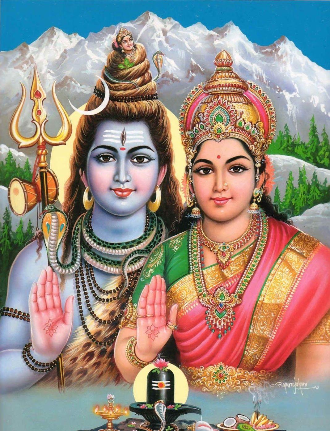 Beautiful Shiva Parvati Image