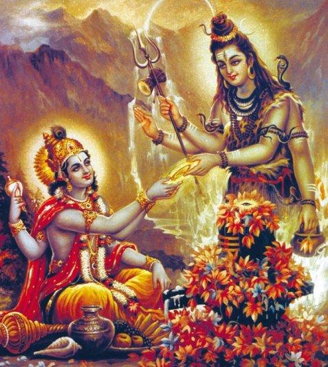 Shiva Giving Sudarshana Chakra