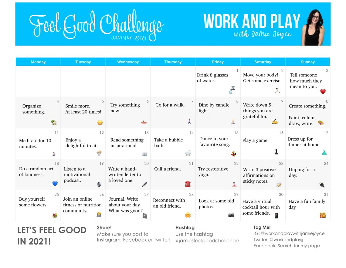 Jamie's Feel Good Challenge 2021