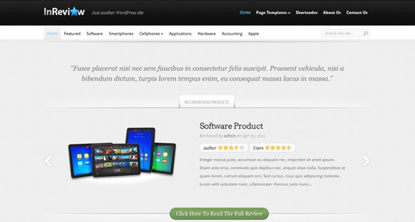 Elegant Themes InReview WordPress Theme