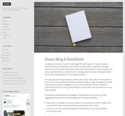 Array Themes Fixed WordPress Theme 1