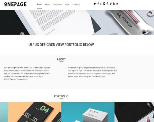 dessign one page responsive wordpress theme