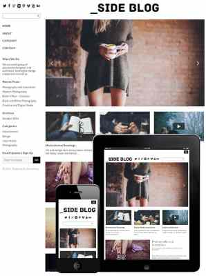 dessign side blog responsive wordpress theme