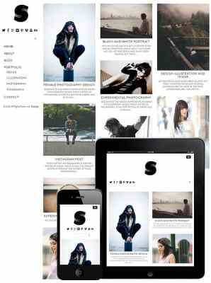 dessign side grid responsive wordpress theme
