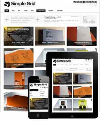 Dessign Simple Grid Responsive WordPress Theme 1