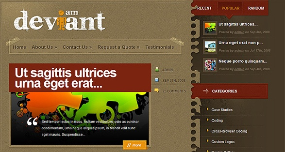 elegant themes deviant wordpress theme