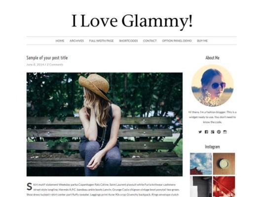 Pankogut Glammy WordPress Theme