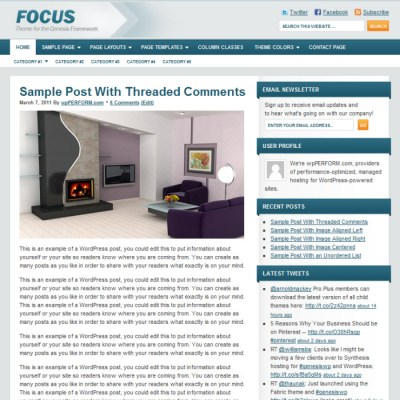 StudioPress Focus Pro WordPress Theme
