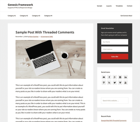 StudioPress Genesis WordPress Theme Framework