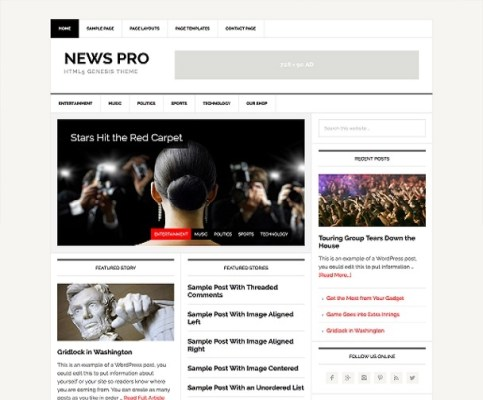 StudioPress News Pro WordPress Theme