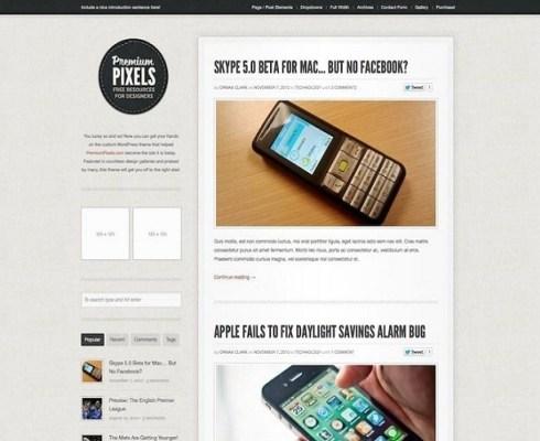 ThemeZilla Premium Pixels WordPress Theme