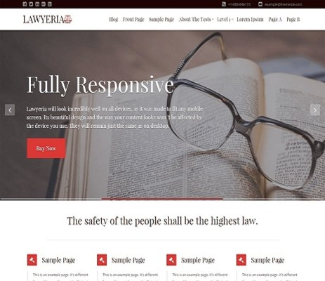 Themeisle LawyeriaX WordPress Theme