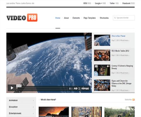 VideoPRO WordPress Theme 1