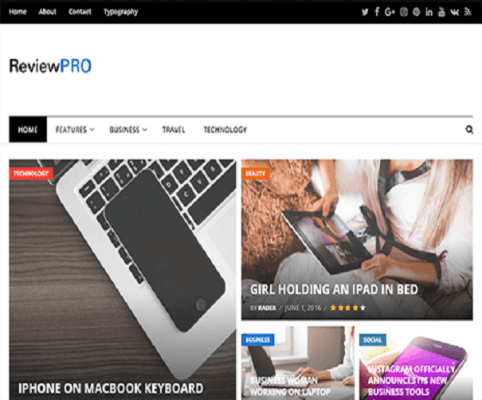 reviewpro wordpress theme