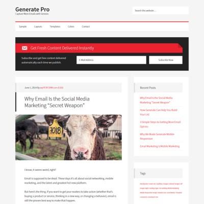 StudioPress Generate Pro WordPress Theme 1
