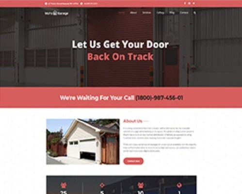 Premium Moto Theme Garage Door Services 1