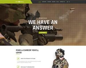 Premium Moto Theme Military Services