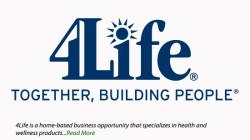 Home Business Profile: 4Life