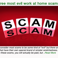The three most evil work at home scams ever