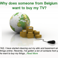 Why does someone from Belgium want to buy my TV?