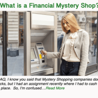 What is a Financial Mystery Shop?